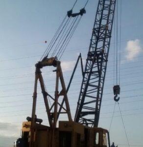 BUCYRUS 61B - Treliçado sobre esteiras crane crawler serie 2
