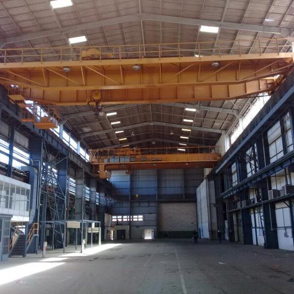 Galpão estrutural 2.760 m² + Ponte Rolante Mausa 60/10 ton. vão 22,10 m.